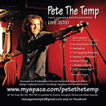 Pete the Temp's Live Abum