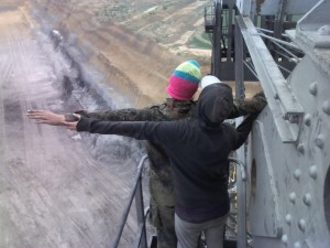 On the Bagger digger, courtesy of http://hambacherforst.blogsport.de/