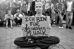 'I am for street music' Courtesy of BerlinStreet Music.com